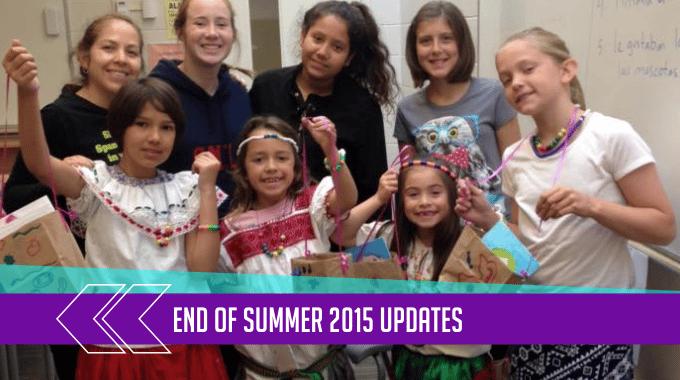 End of Summer 2015 Updates 1